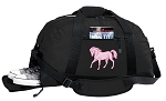 Cute Horse Duffel Bag with Shoe Pocket