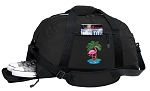 Flamingo Duffel Bag with Shoe Pocket