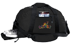 Peace Frogs Duffel Bag with Shoe Pocket
