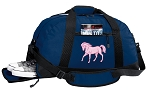 Cute Horse Duffle Bag w/ Shoe Pocket