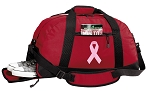 Pink Ribbon Duffel Bag with Shoe Pocket Red