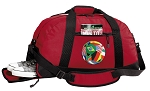 Soccer Duffel Bag with Shoe Pocket Red