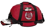 Horse Duffel Bag with Shoe Pocket Red