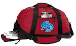 DOLPHINS Duffel Bag with Shoe Pocket Red