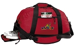 Peace Frogs Duffel Bag with Shoe Pocket Red