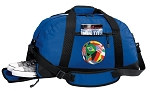 Soccer Duffel Bag with Shoe Pocket Blue
