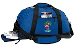 Flamingo Duffel Bag with Shoe Pocket Blue