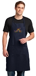 Peace Frogs Apron LARGE Navy