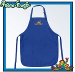 Peace Frogs Apron Blue