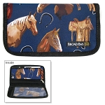 Horses Saddles Checkbook Cover