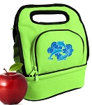 Dolphins Lover Lunch Bag 2 Section Lime