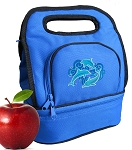 DOLPHINS Lunch Bag 2 Section Blue