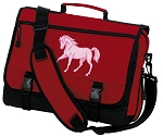 Cute Horse Messenger Bag Red