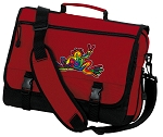 Peace Frogs Messenger Bag Red