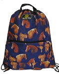 Horses Saddles Drawstring Backpacks