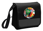 Soccer Lunch Bag Cooler Black