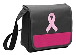 Pink Ribbon Lunch Bag Cooler Pink