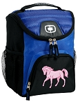 Cute Horse Best Lunch Bag Cooler Blue