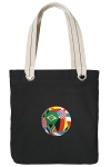 Soccer Tote Bag RICH COTTON CANVAS Black