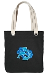 DOLPHIN Tote Bag RICH COTTON CANVAS Black
