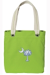 South Carolina Palmetto Tote Bag RICH COTTON CANVAS Green