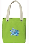 Turtle Tote Bag RICH COTTON CANVAS Green
