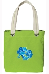 DOLPHINS Tote Bag RICH COTTON CANVAS Green