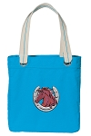 Horse Theme Tote Bag RICH COTTON CANVAS Turquoise