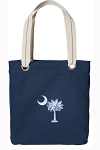 South Carolina Tote Bag RICH COTTON CANVAS Navy