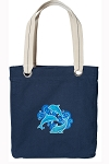 DOLPHIN Tote Bag RICH COTTON CANVAS Navy