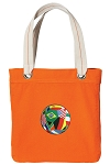 Soccer Tote Bag RICH COTTON CANVAS Orange