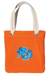 DOLPHINS Tote Bag RICH COTTON CANVAS Orange