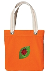 Ladybug Tote Bag RICH COTTON CANVAS Orange