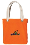 Peace Frogs Tote Bag RICH COTTON CANVAS Orange