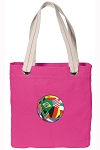 Soccer Tote Bag RICH COTTON CANVAS Pink