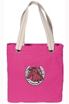Horse Tote Bag RICH COTTON CANVAS Pink