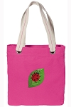 Ladybug Tote Bag RICH COTTON CANVAS Pink