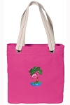 Flamingo Tote Bag RICH COTTON CANVAS Pink