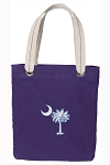 South Carolina Tote Bag RICH COTTON CANVAS Purple