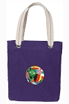 Soccer Tote Bag RICH COTTON CANVAS Purple