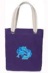DOLPHIN Tote Bag RICH COTTON CANVAS Purple