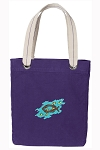 Christian Tote Bag RICH COTTON CANVAS Purple