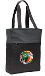 Soccer Tote Bag Everyday Carryall Black