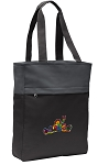 Peace Frogs Tote Bag Everyday Carryall Black