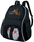 Peace Frog Soccer Backpack or Volleyball Bag for Girls or Boys