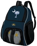 South Carolina Soccer Ball Backpack or South Carolina Volleyball Practice Gear Bag Navy