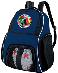 Soccer  Ball Backpack or World Cup Fan Volleyball Practice Gear Bag Navy
