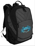 BLUE CRAB Deluxe Laptop Backpack Black