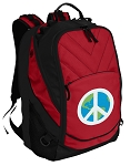 Peace Sign Laptop Computer Backpack