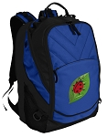 Ladybugs Deluxe Computer Backpack Blue